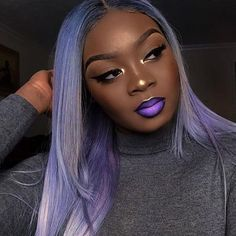 Patience leads to blessings ✨ LVH Doll: 😍 Hair: Luxury 613 Straight + frontal Code: TGDAMI - off 💜 Brown Hair Cuts, Golden Brown Hair, Brown Ombre Hair, Brown Skin, Dark Skin, Hair Color Purple, Brown Hair Colors, Pastel Purple, Trending Hairstyles