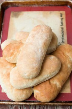 Easy hoagie rolls recipe! And it's all done in a mixer so no need to knead! ohsweetbasil.com via @ohsweetbasil