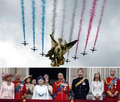 """""""여왕 88세 생일 축하"""" 英공군 에어쇼"""