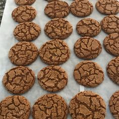 """With just a few ingredients and even fewer steps, this recipe for fabulous, spicy ginger snap cookies is truly a """"snap"""" to make! Soft Ginger Cookie Recipe, Ginger Snaps Recipe, Soft Ginger Cookies, Cookie Recipes, Dessert Recipes, Cookie Desserts, Baking Recipes, Cherry Candy, Healthy Cat Treats"""