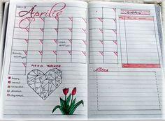 BuJo április - monthly log