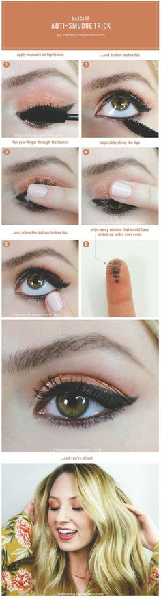 Sexy Eye Makeup Tutorials - The Lash Lock: No Smears, No Smudges - Easy Guides on How To Do Smokey Looks and Look like one of the Linda Hallberg Bombshells - Sexy Looks for Brown, Blue, Hazel and Green Eyes - Dramatic Looks For Blondes and Brunettes - thegoddess.com/sexy-eye-makeup-tutorials