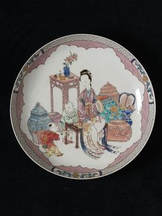 Dish      Place of origin:      Jingdezhen, China (made)     Date:      ca. 1730 (made)     Artist/Maker:      unknown (production)     Materials and Techniques:      Porcelain painted in overglaze polychrome enamels