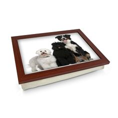 Three Breeds of Dogs Lap Tray - Personalised Gift Personalised Gifts Unique, Unique Gifts, Great Gifts, Lap Tray, Laptop Desk, Breakfast In Bed, Cloth Bags, Design Your Own, Wooden Frames