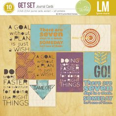 Get Set journal cards by Lynne-Marie