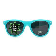 Amazon.com: Neon Green Glow in the Dark Wayfarer Sunglasses: Clothing