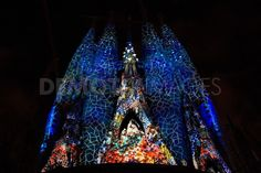 L'Ode a la Vie at Sagrada Familia in Barcelona. A group called the Moment Factory designed a show illuminating a part of the famous Sagrada Familia using 16 video projectors, with a series of compositions during a 7-day show entitled L'Ode a la Vie.