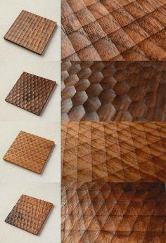 The amazing art of geometric wood design - - Wood Carving Designs Wooden Art, Wood Wall Art, Wood Projects, Woodworking Projects, Woodworking Wood, Wood Furniture, Furniture Design, Handmade Furniture, Wood Table Design