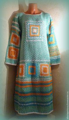 Платье Арлекин 2 | Купить Платье Арлекин 2 - мятный, платье, платье вязаное, платье летнее, Платье осеннее