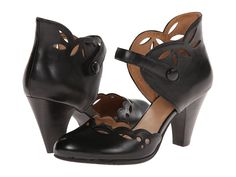 Vintage Style Shoes,Miz Mooz - Carlotta Black Womens 1-2 inch heel Shoes $90.99 AT vintagedancer.com