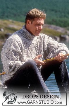 DROPS Sweater with cables in two strands Alpaca or one strand Alaska ~ DROPS Design