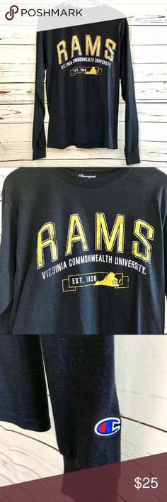ba0db4f3 Champion | VCU Rams Long Sleeve Shirt Champion brand Virginia Commonwealth  University long sleeve t shirt