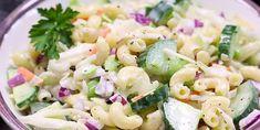 Envie d'un vent de fraîcheur? Une salade de pâtes incroyablement savoureuse et super originale - Recettes - Ma Fourchette Cold Meals, Vegetable Recipes, Pasta Salad, Barbecue, Potato Salad, Seafood, Salads, Recipies, Good Food