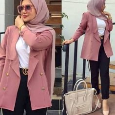 and classic hijab outfits – Just Trendy Girls Modest Fashion Hijab, Modern Hijab Fashion, Hijab Fashion Inspiration, Hijab Chic, Muslim Fashion, Mode Inspiration, Mode Outfits, Casual Outfits, Fashion Outfits
