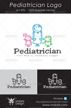 Pediatrician Logo Design Template Vector #logotype Download it here: http://graphicriver.net/item/pediatrician-logo/4826325?s_rank=1108?ref=nexion