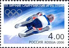 Sello: Luge (Rusia) (Winter Olympic Games 2006 - Torino) Mi:RU 1301 Winter Olympic Games, Winter Olympics, Luge, Russia, Stamps, Baseball Cards, Sports, Seals, Hs Sports