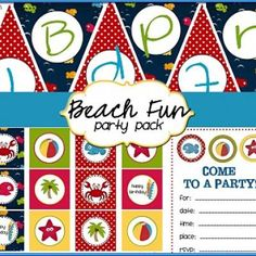 Beach Fun Party Pack Printables