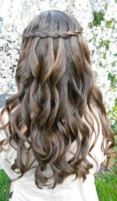Loose curls with crown braid homecoming hairstyle - 7 Braided Hairstyles Perfect For Homecoming