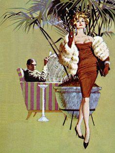 Robert McGinnis - House Dick by Gordon Davis (E. Howard Hunt pseudonym) #pulp #art