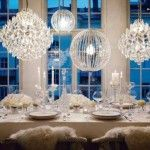 When planning a winter wedding, there are many fun winter wonderland wedding decorations that will make this day special for the happy couple. White Table Settings, Place Settings, Fantasy Rooms, Wedding Decorations, Table Decorations, Winter Decorations, Hanging Decorations, Decor Wedding, Table Centerpieces