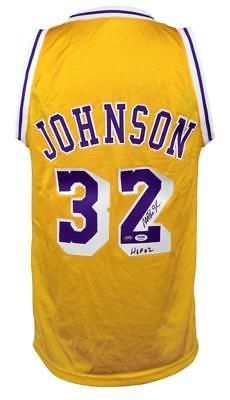Magic Johnson Autographed Custom Jersey w  HOF 02 PSA DNA Certified   Basketball b251d635b