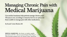 """Managing Chronic Pain with Medical Marijuana from I.G. Living! #Myositis can cause #chronicpain. Is medical marijuana right for you? """"The term 'medical marijuana' refers to using the whole unprocessed plant or the chemicals contained within it to alleviate symptoms of certain conditions or diseases. The marijuana plant is comprised of more than 100 #cannabinoids (chemicals), each of which have different effects on the body.""""  #cannabis #pain #endocannabinoids #medicalmarijuana #cbd Chronic Illness, Chronic Pain, Pain Management, Plant, Natural, Nature, Plants, Replant"""