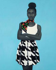 Deleitemonos con los preciosos retratos de la artista americana Amy Sherald.