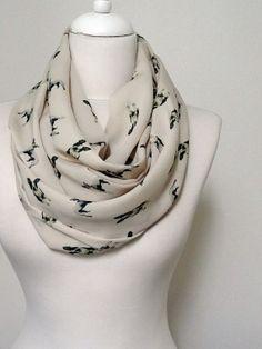 Boston Terrier Dog Pattern Infinity scarf, Circle scarf, Loop scarf, Scarves, Shawls, spring - fall - winter - summer fashion