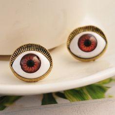 European Punk Style Blue Eye Stud Earring