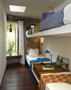 Casa Chontay: Cuartos de estilo Moderno por Marina Vella Arquitectura