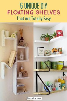 White Shelves, Floating Shelves Diy, Decorating Your Home, Diy Home Decor, Home Kitchens, Decor Styles, Fall Decor, Repurposed, Home Goods