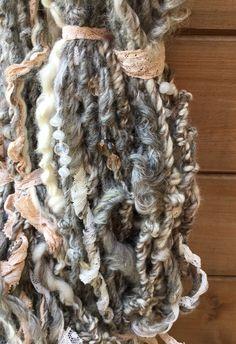 Hand Spun Art Yarn - Pinki Punki Spinning Yarn, Hand Spinning, Textile Prints, Textiles, Art Yarn, Fibre Art, Knitting Accessories, Mix Media, Easy Knitting