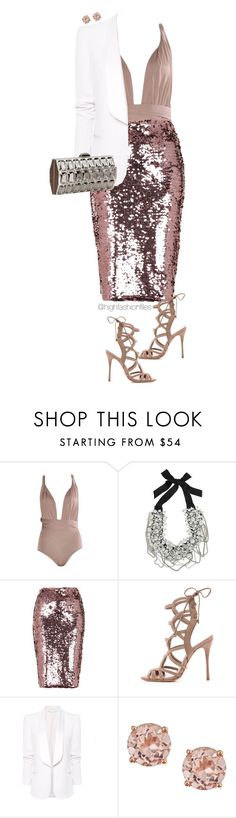"""Holiday Party 2015"" by highfashionfiles ❤ liked on Polyvore featuring Oscar de la Renta, Topshop, Schutz, MANGO and Judith Leiber"