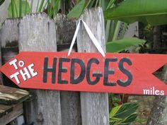 GEORGIA Bulldogs- To The Hedges - Directional Arrow Sign with Your Mileage to THE HEDGES on Etsy, $35.00