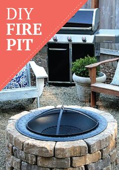 Light up the night and your backyard with this DIY fire pit tutorial! [ EverestRubberMulch.com ] #backyard #mulch #landscape
