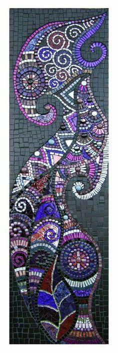 Seahorse by julie edmunds art glass mosaics