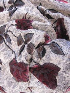 designer fabric burnout fabric silk velvet fabric by fabricniche, $19.50