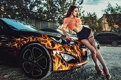 alla berger posing with car Full HD