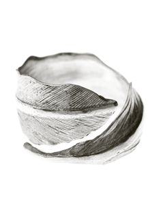 Silver Swan Feather Ring