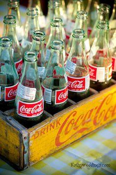 Coke in a glass bottle....