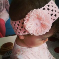 Saç bandı❤Head band #crochet #handmade  #yarnart #pink #headband @byahusa