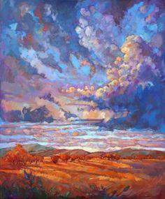 """Saatchi Art Artist Erin Hanson; Painting, """"Texan Sky"""" #art"""
