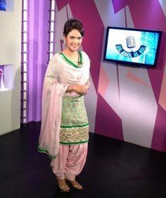 patiala suit. Punjabi actress Harpreet Hanjra