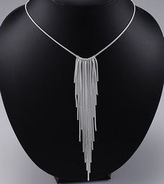Chain fringe necklace are fun and exciting to by JewerlyConnection