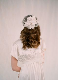 Vintage inspired lace bridal cap  Style 117  Made to by myrakim, $315.00