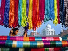 Book online Taj Mahal tour travel packages with leading India tour operator. Offer customized and tailor-made Agra tajmahal tour packages with various India tourist destinations. Varanasi, Jaipur, Nepal, Le Taj Mahal, Visit India, Golden Triangle, India Tour, World Of Color, Life Color