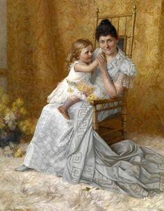 portrait-of-martha-wysor-marsh-and-son-john-edwin.jpg (479×615) John Ottis Adams (1851 – 1927)
