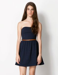 Bershka Singapore - BSK belt detail dress