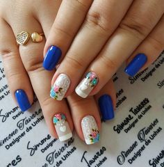 Nail Polish Art, Nail Polish Designs, Cute Nail Designs, How To Do Nails, Fun Nails, Best Acrylic Nails, Rose Nails, Nail Candy, French Tip Nails