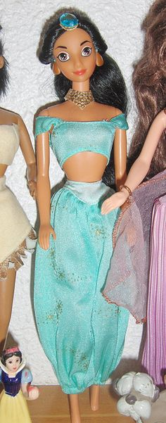 DISNEY Jasmine with original clothes by Belle25890, via Flickr... i want the 90's version of her so bad!!!